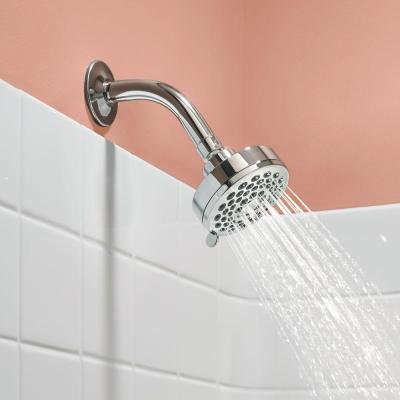 Eos 3-Spray 3.8 in. Single Wall Mount Fixed Shower Head in Chrome (1.75 GPM)