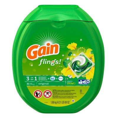 Flings Original Scent Laundry Detergent (81-Count)
