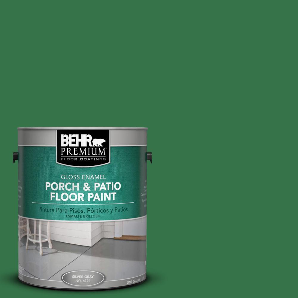 1 gal. #P410-7 Grasslands Gloss Interior/Exterior Porch and Patio Floor Paint