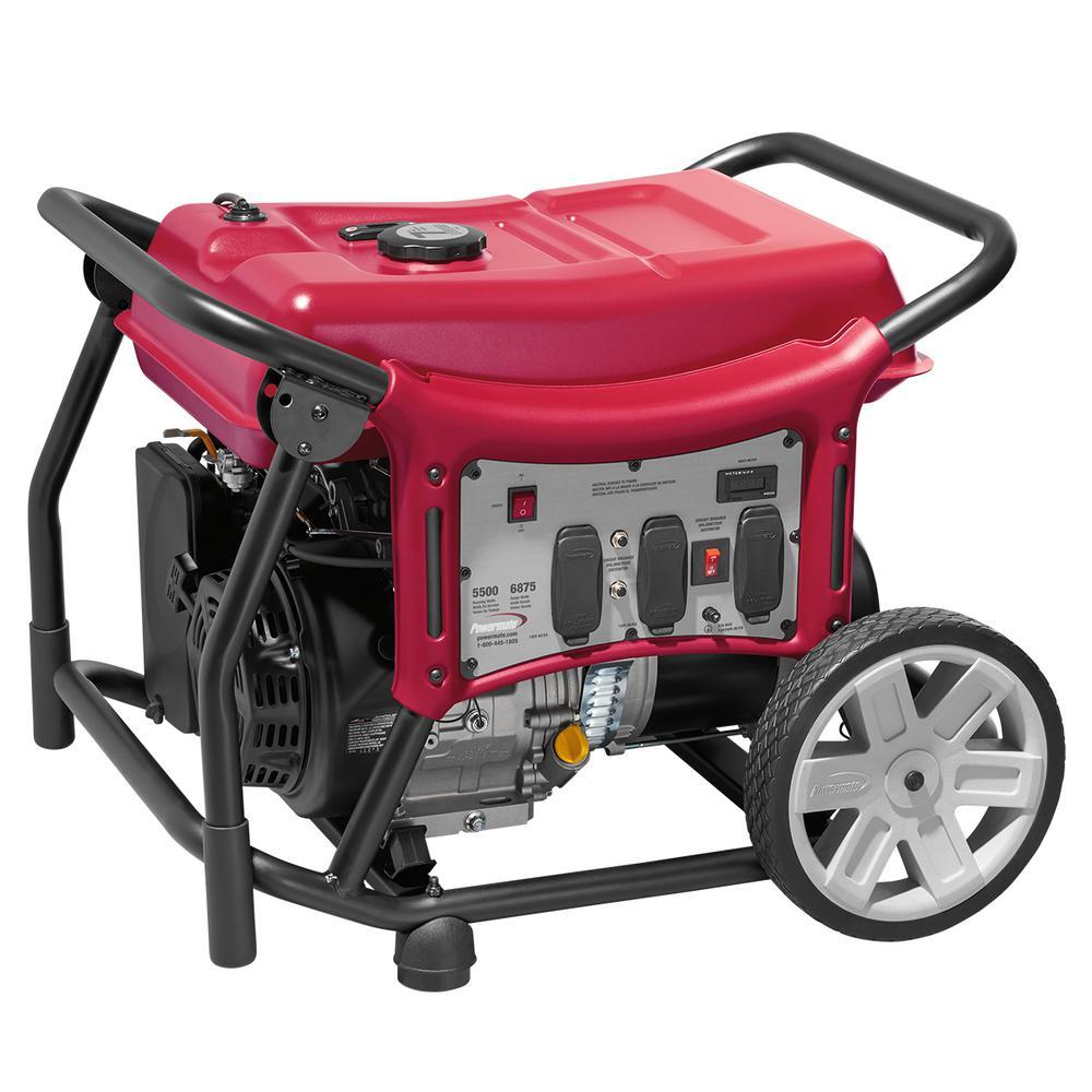 CX Series 5,500-Watt Gasoline Powered Recoil-Start Portable Generator