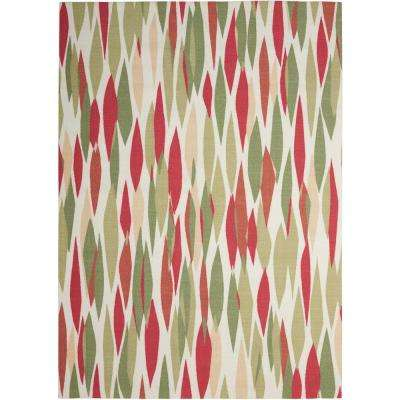 Bits and Pieces Blossom 8 ft. x 11 ft. Indoor/Outdoor Area Rug