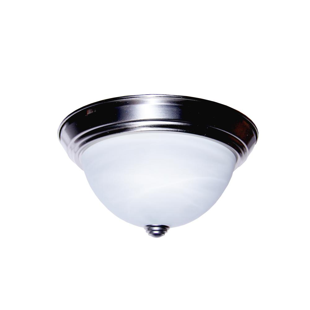 Browns 19-Watt Brushed Nickel Integrated LED Flushmount