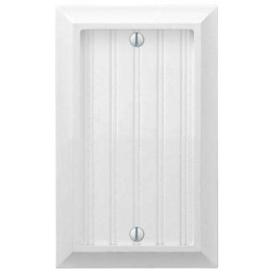 Cottage 1 Gang Blank Composite Wall Plate - White