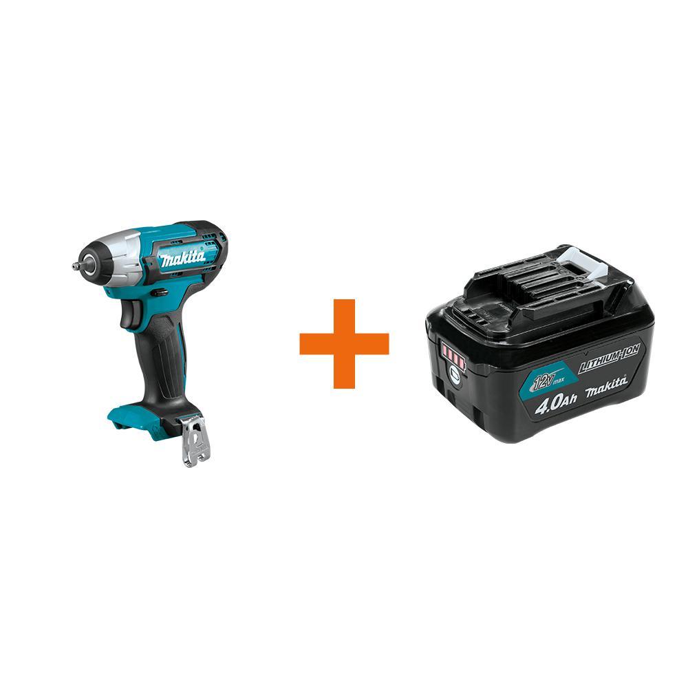 Makita 12-Volt MAX CXT Cordless Impact Wrench w/Battery