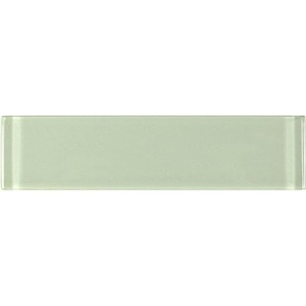 ABOLOS Subway 3 in. x 12 in. Rectangle Green Glossy Glass