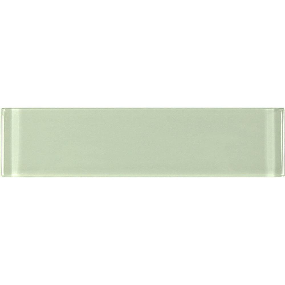 3 in. x 12 in. Metro Celery Green Glass Peel and