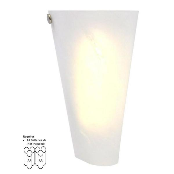 White 6 Led Conical Battery Operated