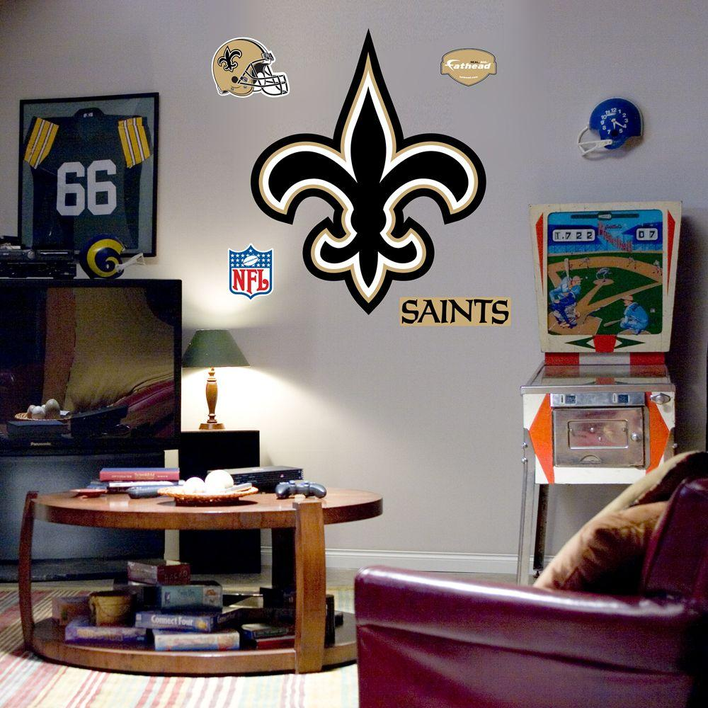 Fathead 40 in. x 49 in. New Orleans Saints Logo Wall Decal
