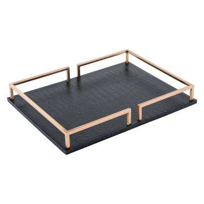 Square Black Tray
