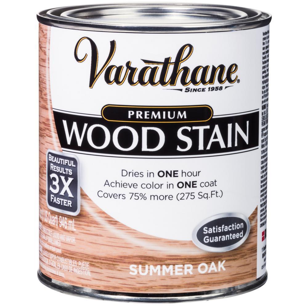 1 qt. Summer Oak Premium Fast Dry Interior Wood Stain