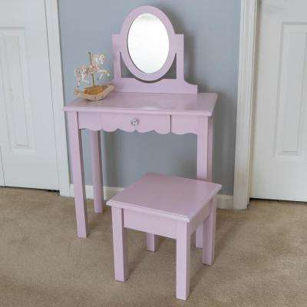 Vivian 2-Piece Pink Vanity Set