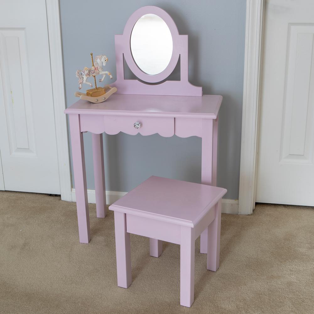 Decor Therapy Vivian 2-Piece Pink Vanity Set FR8653
