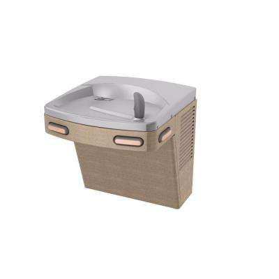 Barrier-Free Versacooler II Push-Button Refrigerated Drinking Fountain Faucet in Sandstone Powder Coat
