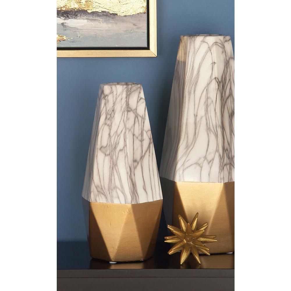 14 in x 6 in ceramic gold and white vase 60748 the home depot ceramic gold and white vase reviewsmspy