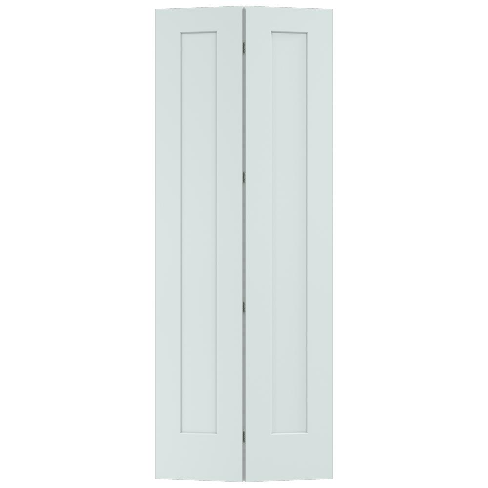 Madison Light Gray Painted Smooth Solid Core Molded Composite MDF Closet  Bi Fold Door