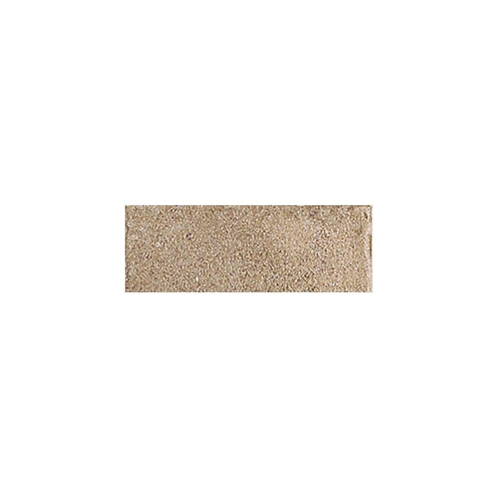 Daltile Castanea Tufo 3 in. x 10-1/2 in. Porcelain Bullnose Floor and Wall Tile-DISCONTINUED