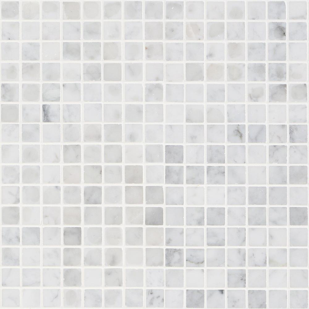 Ivy Hill Tile White Carrera Squares 12