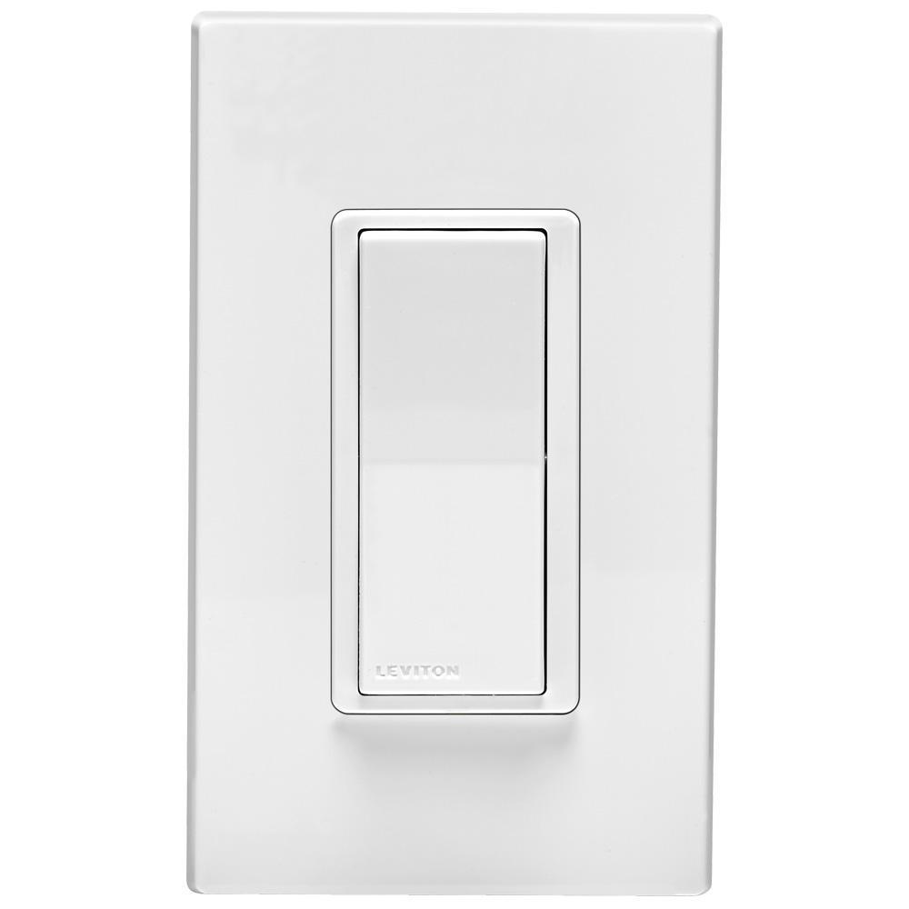 Leviton 120-volt Decora Digital Coordinating Switch Remote  White-r11-dd0sr-01m