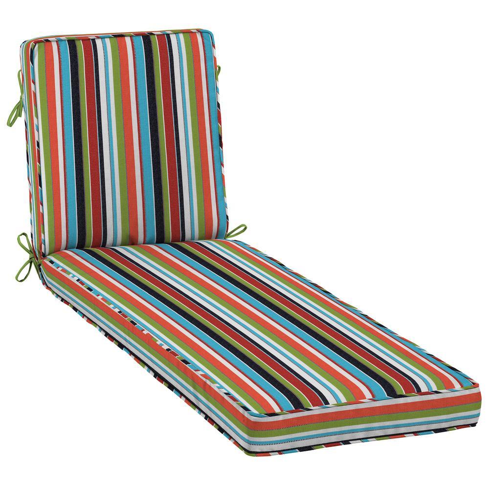 Sunbrella Carousel Confetti Outdoor Chaise Lounge Cushion