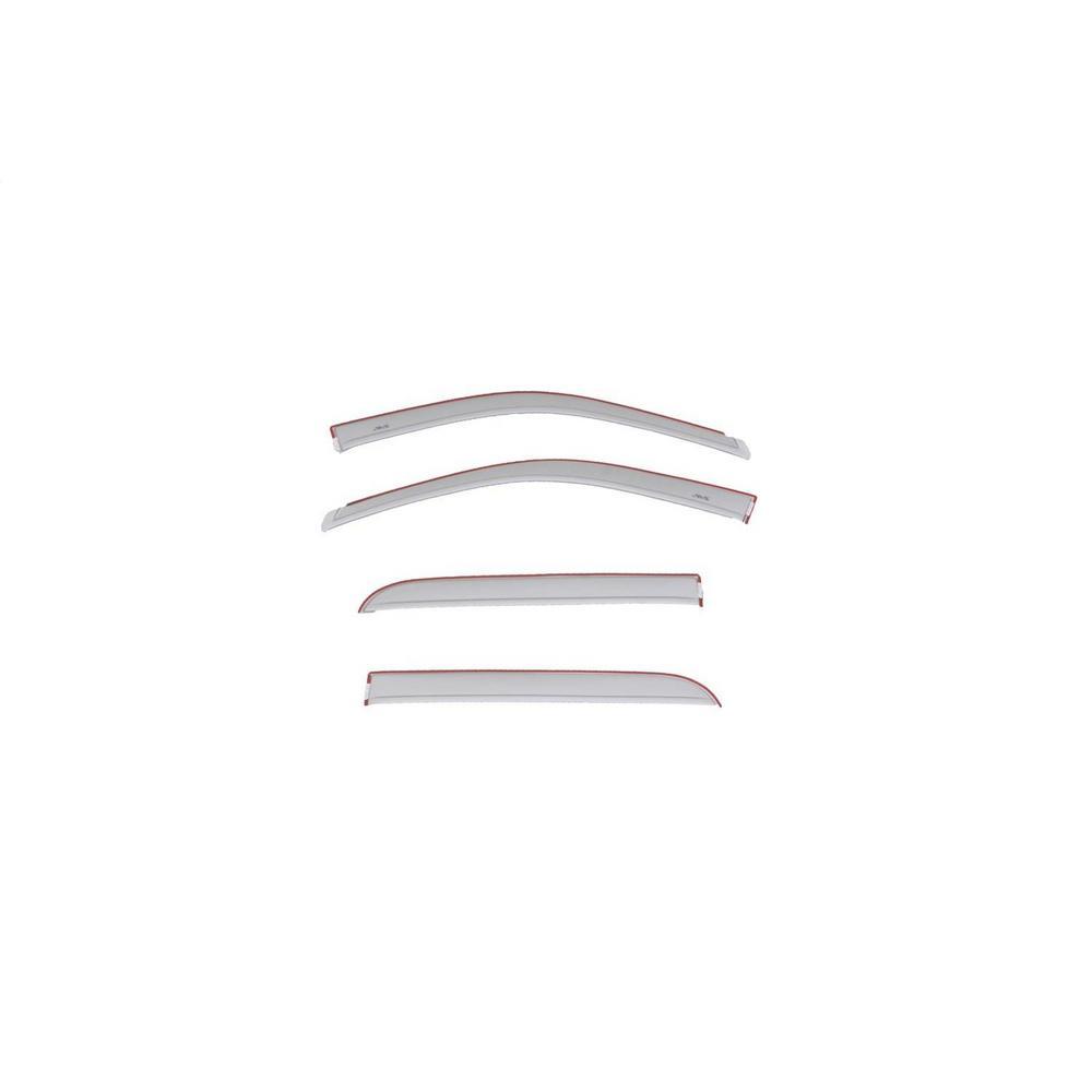 AVS Color Match Ventvisor(R) Low Profile Deflector - Bright Silver  Metallic, 4 pc