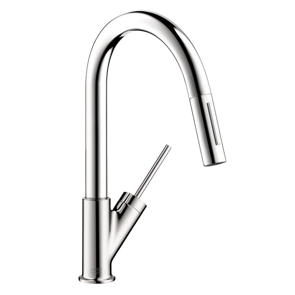 Hansgrohe Axor Starck Prep Single-Handle Pull-Down Sprayer Kitchen Faucet  in Chrome