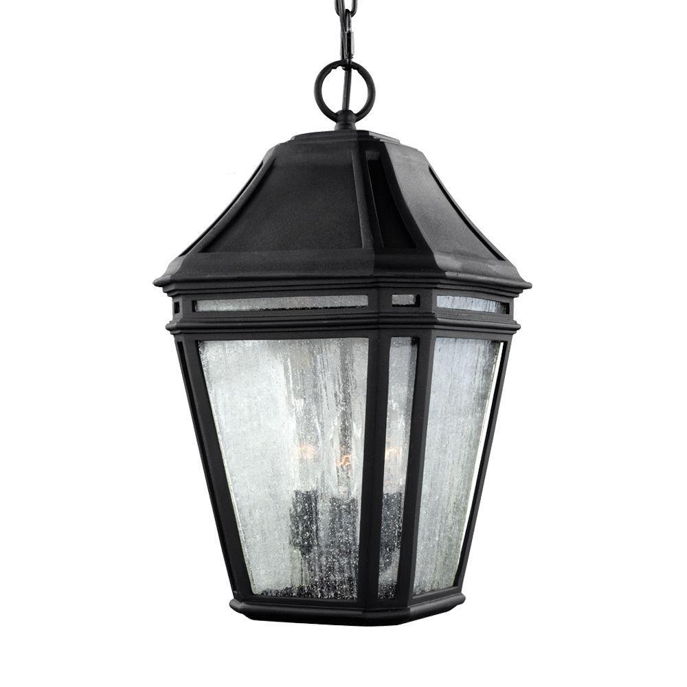 Londontowne 3-Light Black Outdoor 15.5 in. Pendant