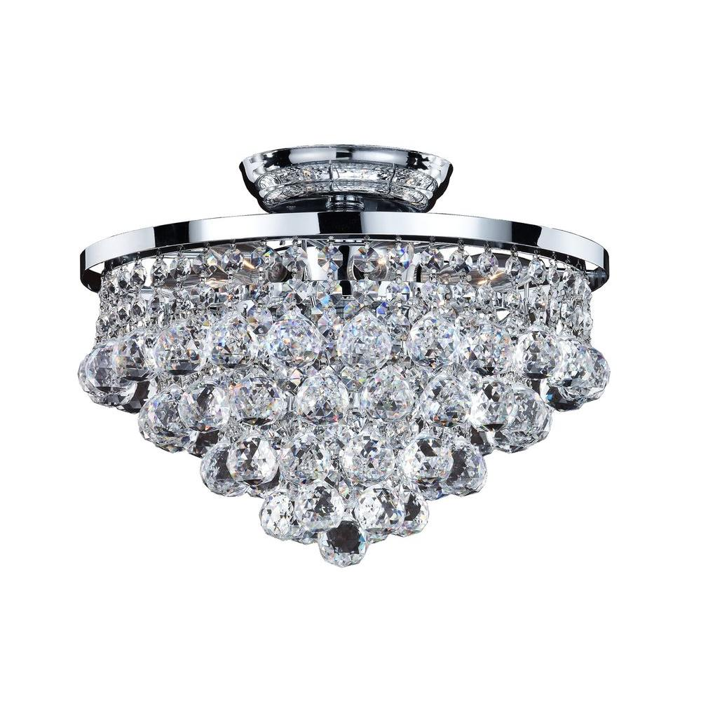 Glow Lighting Vista 6-Light Chrome and Faceted Crystal Ba...