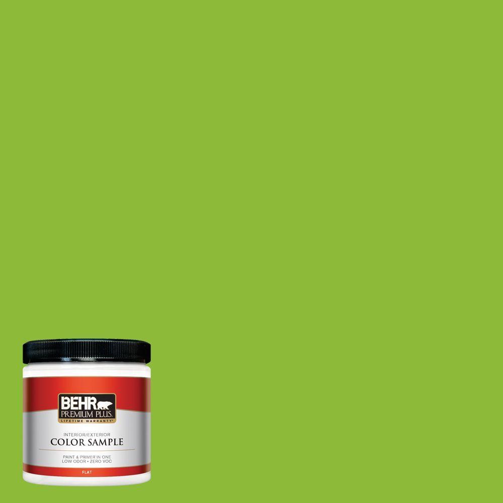 BEHR Premium Plus 8 oz. #S-G-420 Limeade Interior/Exterior Paint Sample