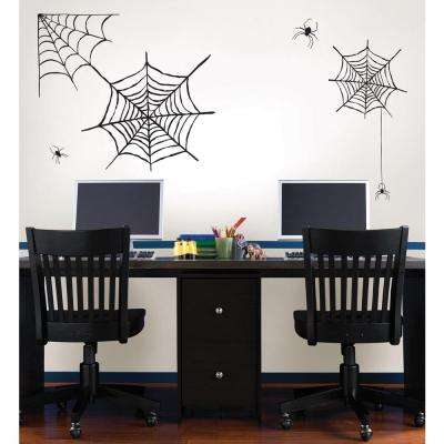 39 in. x 34.5 in. Spider Web Large Wall Art Kit
