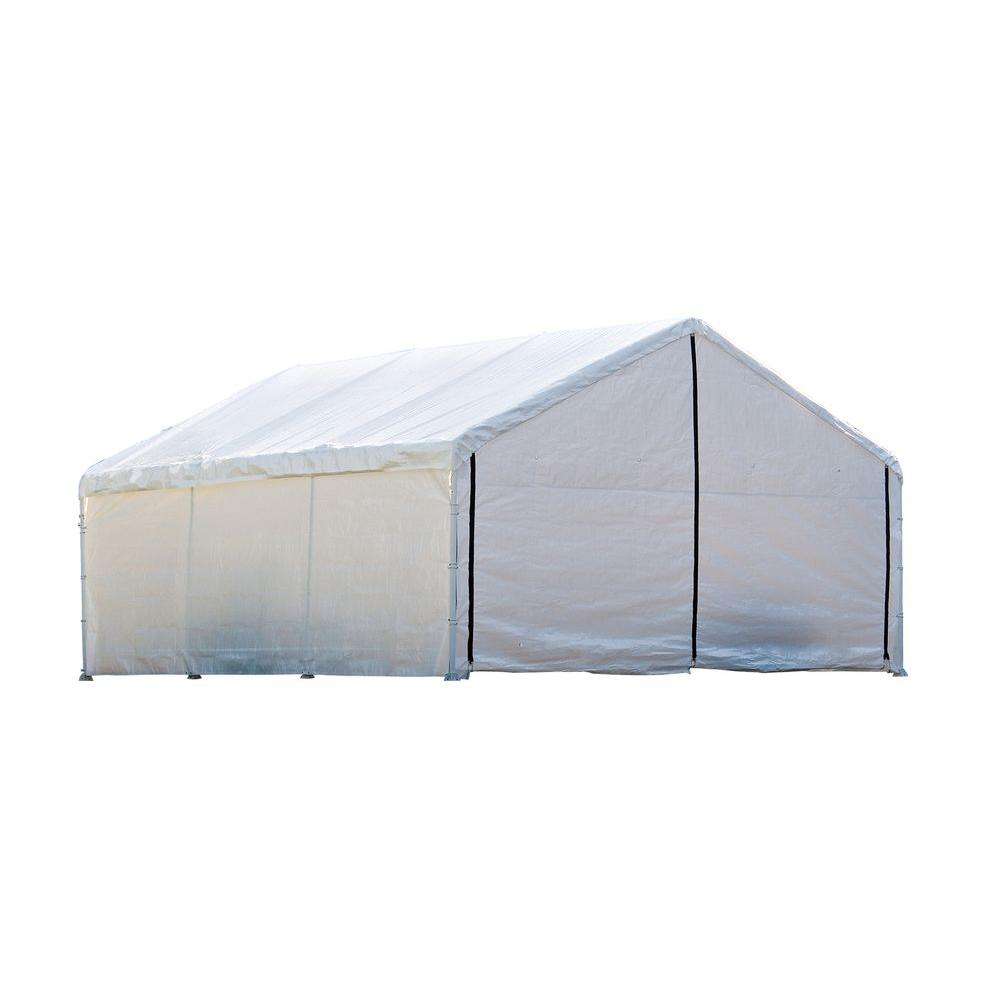 ShelterLogic Super Max 18 ft. x 30 ft. White Canopy Enclosure Kit-DISCONTINUED