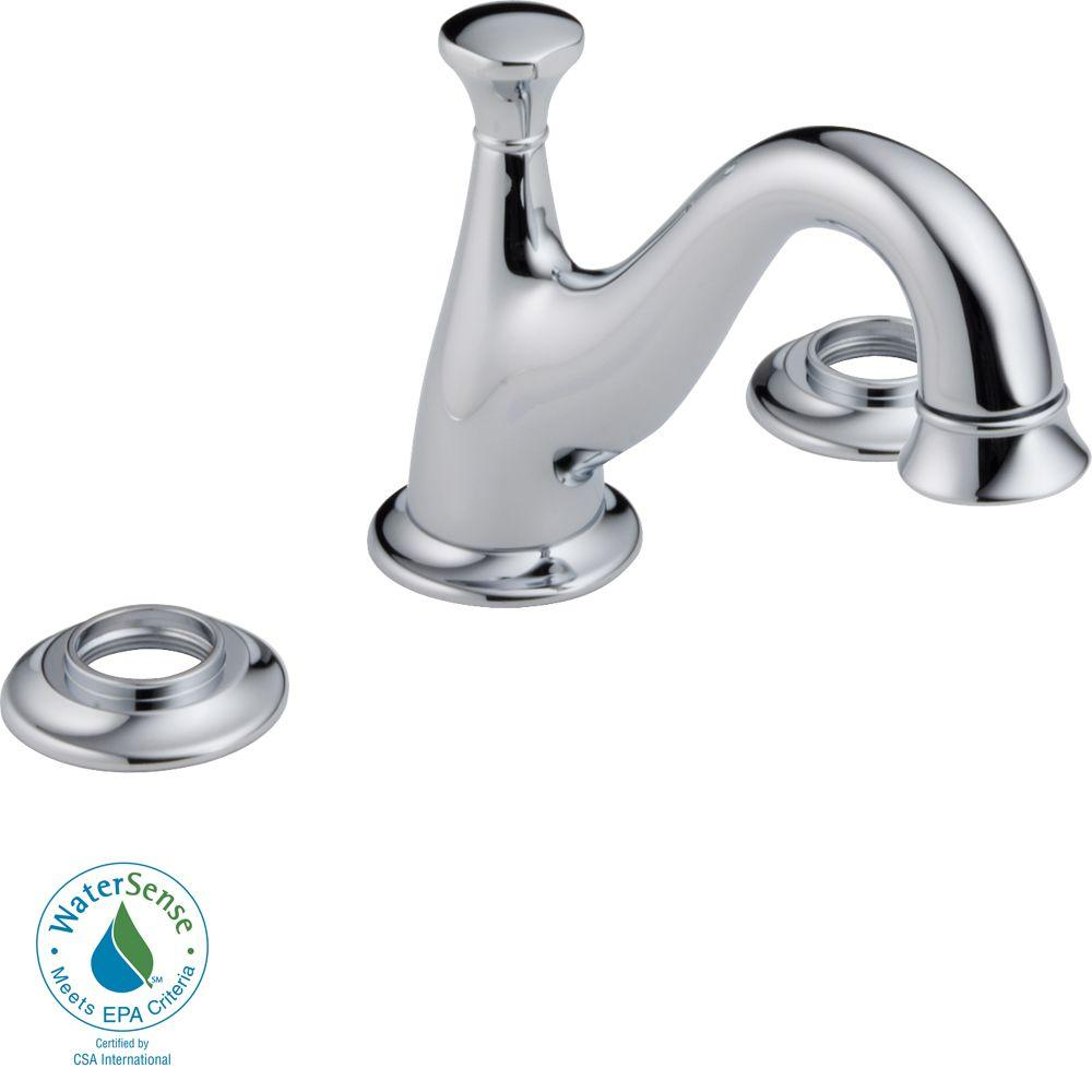 Delta Lockwood 8 in. Widespread 2-Handle High-Arc Bathroom Faucet in Chrome-DISCONTINUED