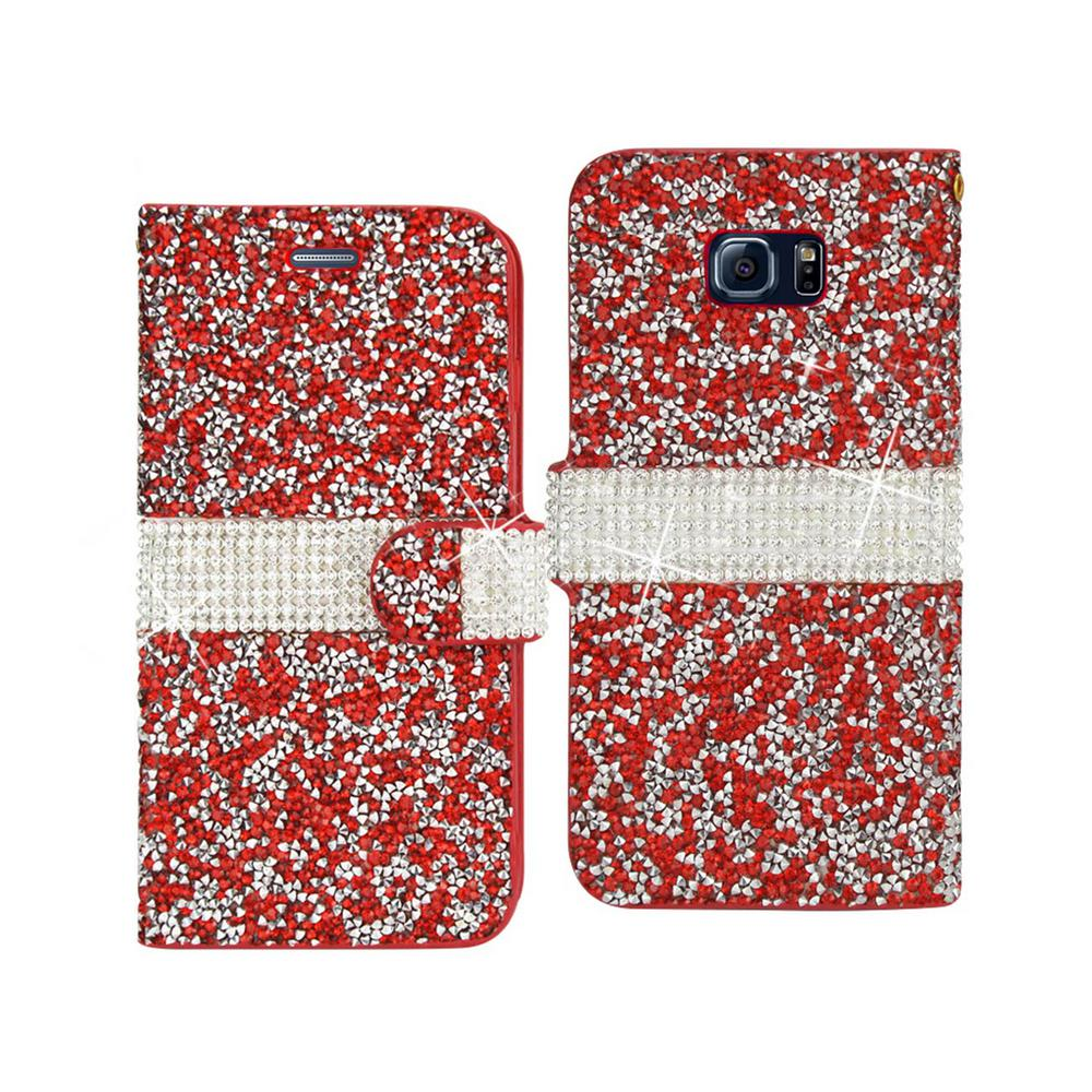 REIKO Galaxy S6 Edge Plus Rhinestone Case in Red-DFC02-S6EDGPLSRD ... 90a8095315