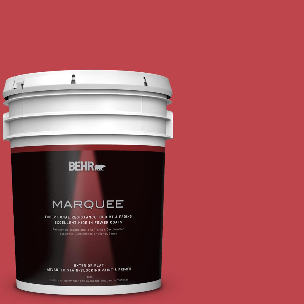 Home Decorators Collection 5-gal. #HDC-FL13-1 Glowing Scarlet Flat Exterior Paint