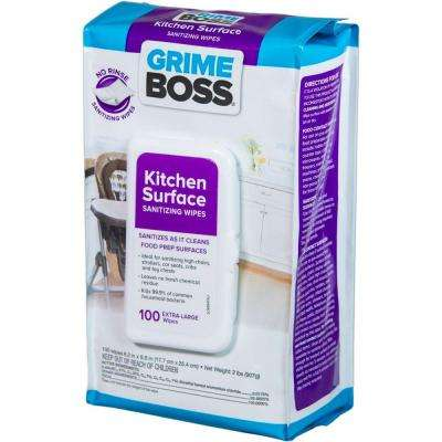 Kitchen Surface Sanitizing Wipes (100-Count)