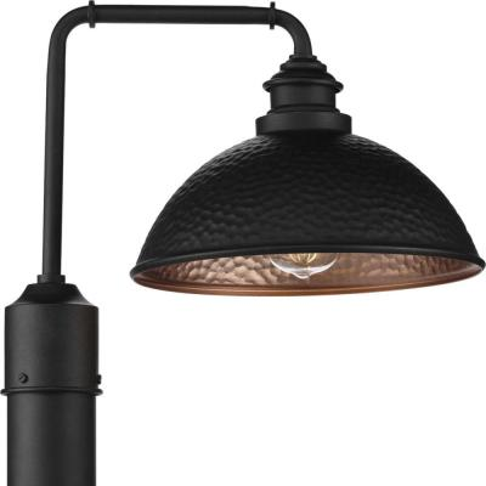 Englewood 1-Light Black Outdoor Post Lantern