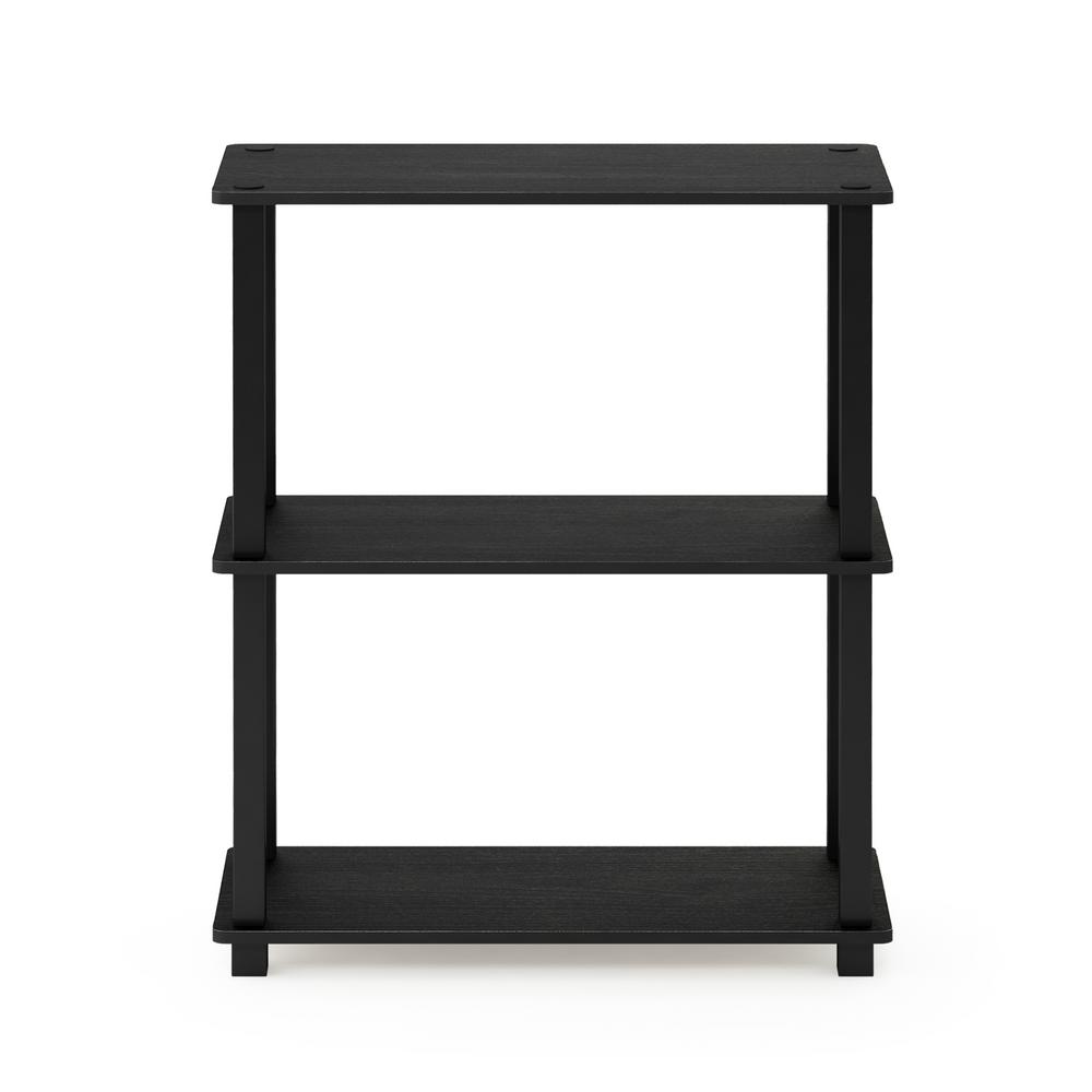 Turn-S-Tube Americano/Black 3-Tier Compact Multipurpose Shelf Display Rack with