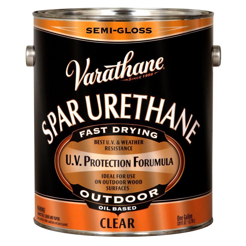 1 gal. Clear Semi-Gloss 350 VOC Oil-Based Exterior Spar Urethane (Case of 2)