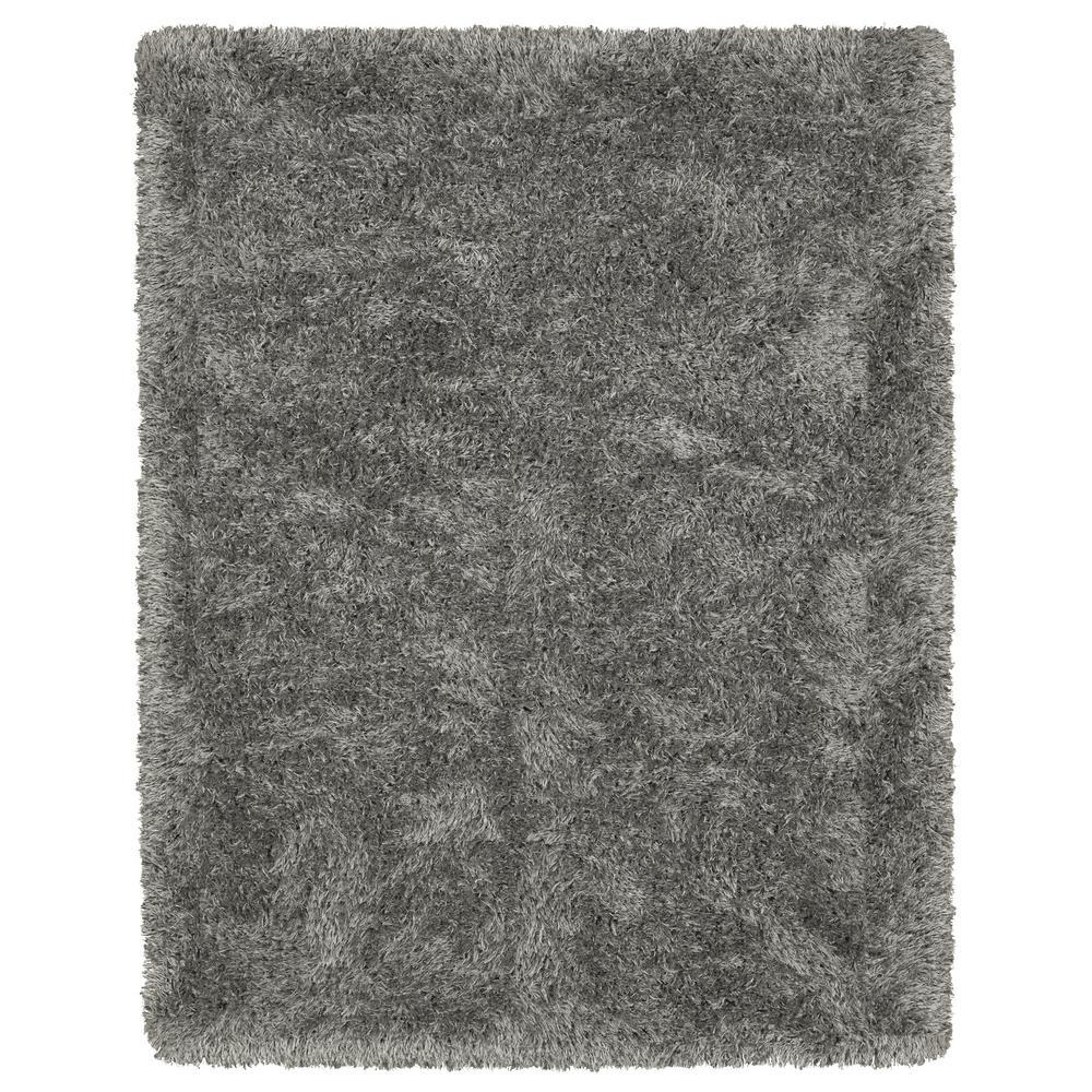 Ottomanson Pure Fuzzy Flokati Dark Grey 8 Ft X 10 Ft