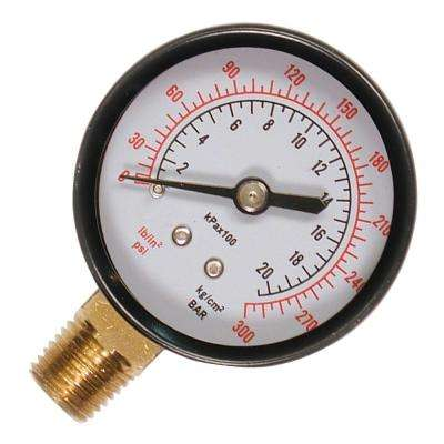 1/4 in. NPT Bottom Mount Pressure Gauge