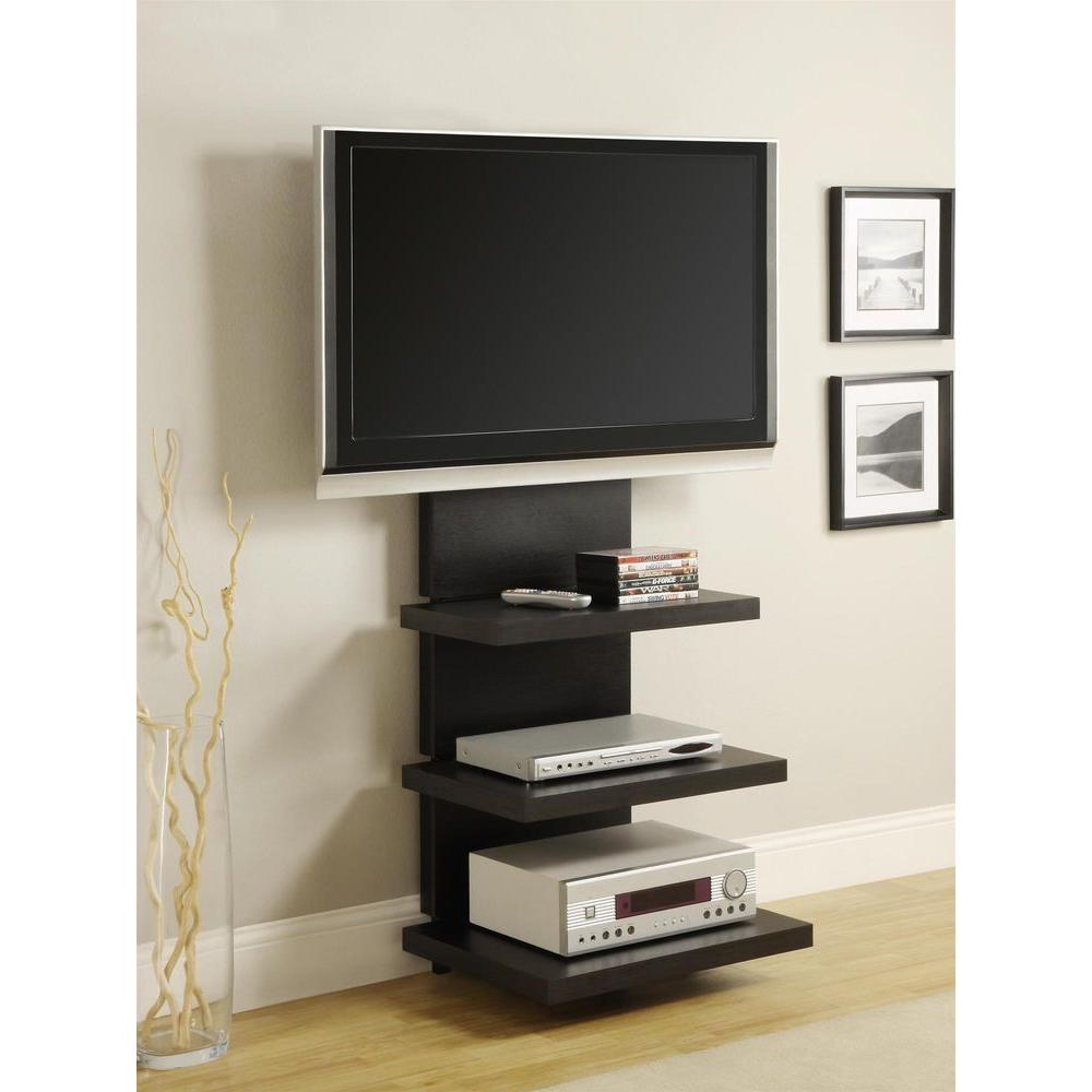 Altra Furniture Elevation Black Entertainment Center 1186096 The