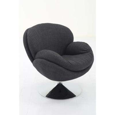 Comfort Chair Scoop Anthracite Fabric Leisure Chair