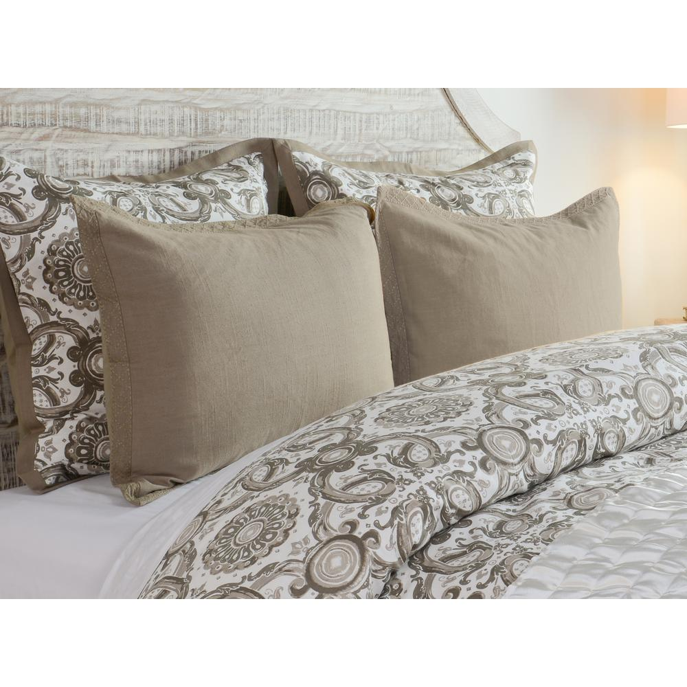 Resort Desert Cotton 26 in. x 26 in. Euro Sham
