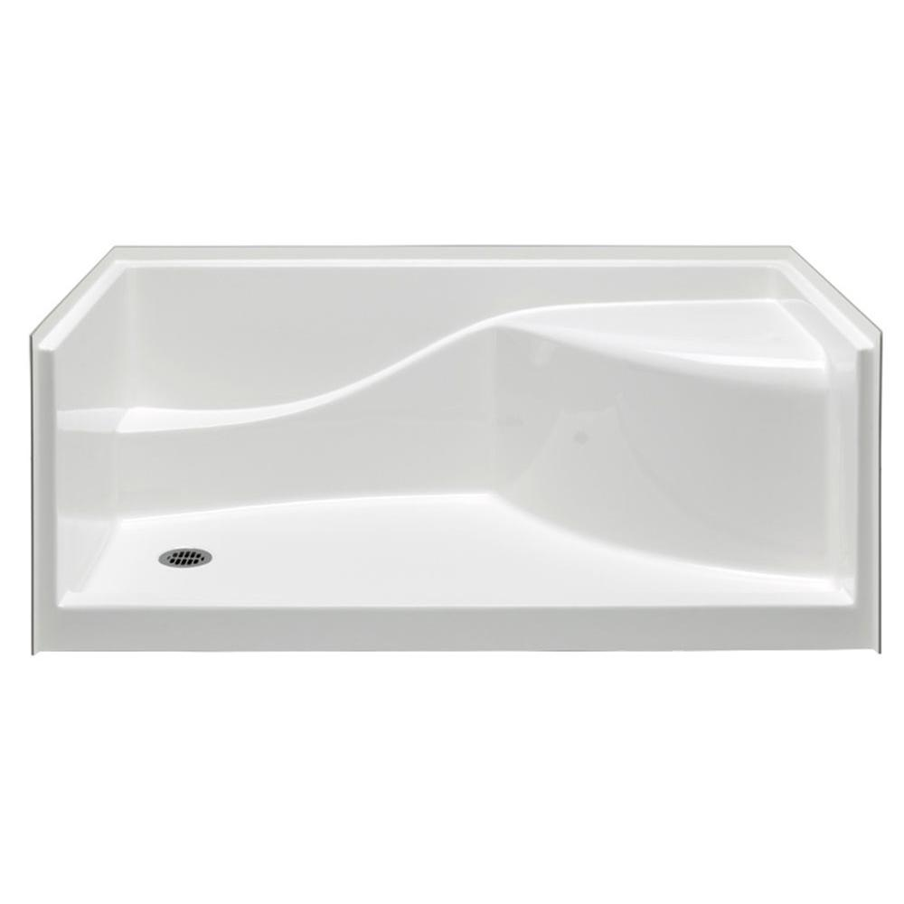 Single Threshold Left Drain Shower Pan In