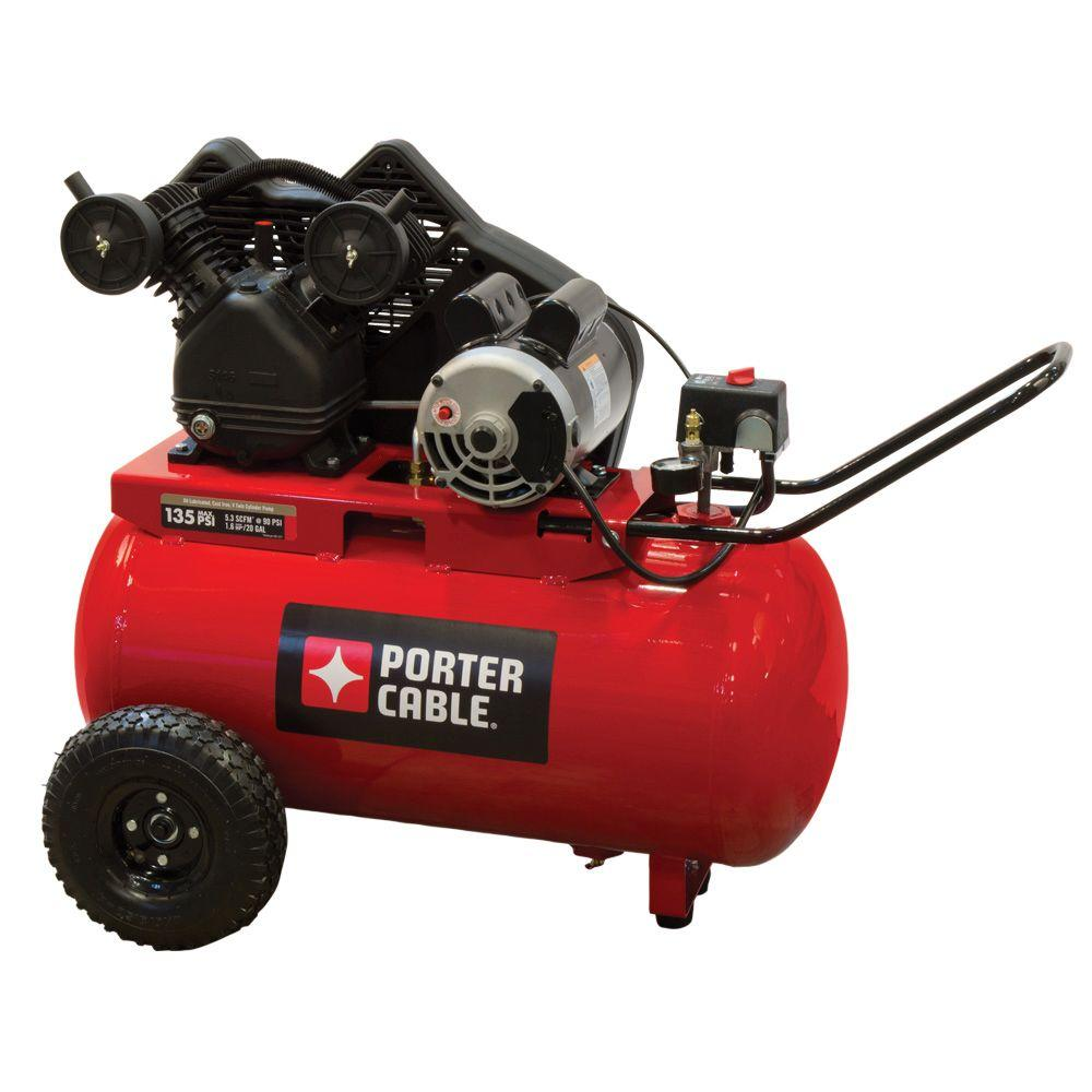 Porter-Cable 20 Gal. Horizontal Portable Air Compressor