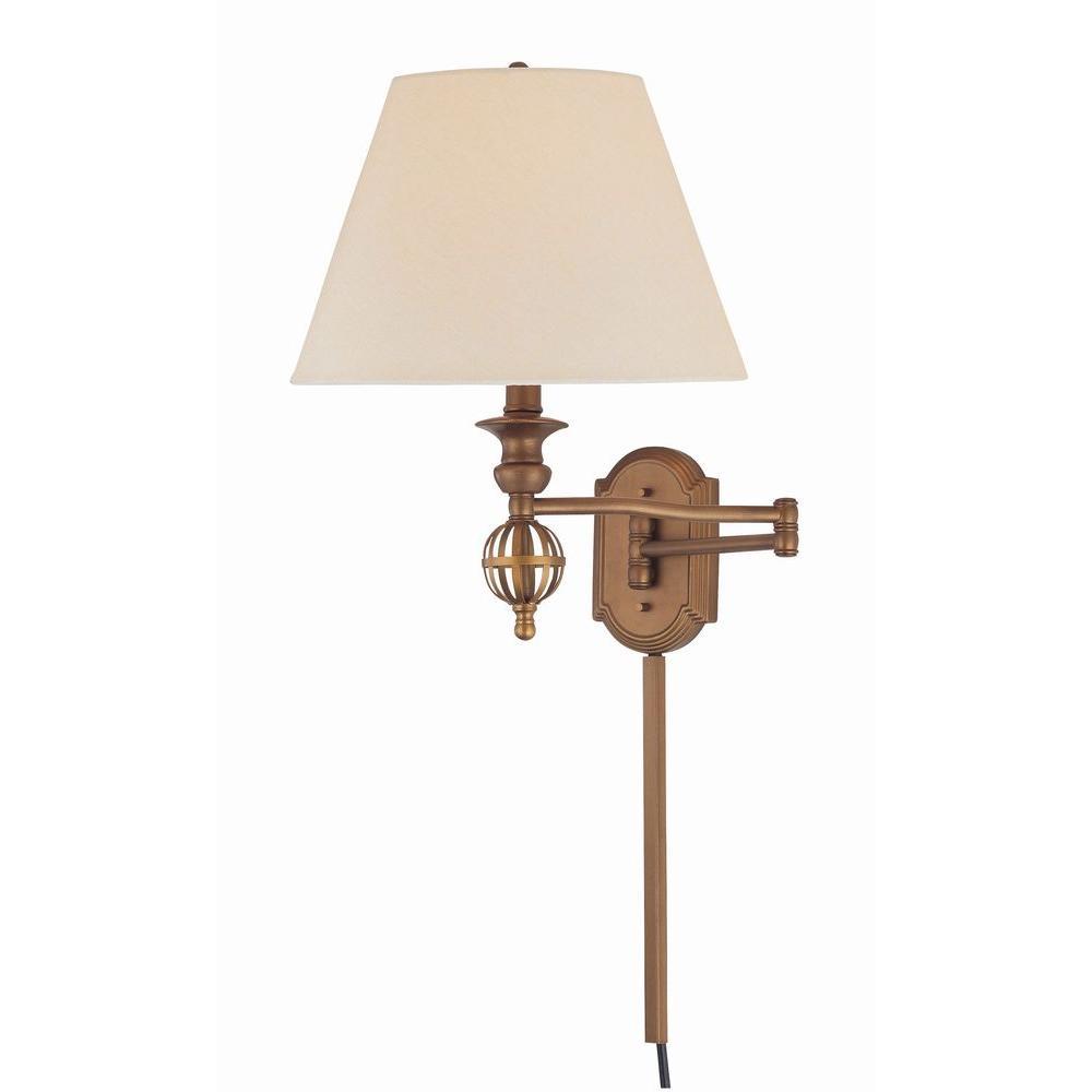Illumine 1-Light Swing Arm Lamp Gold Bronze Finish
