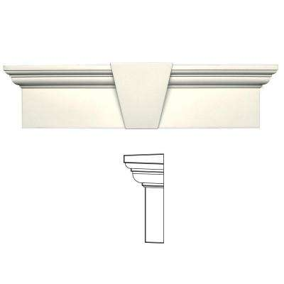 9 in. x 33-5/8 in. Flat Panel Window Header with Keystone in 034 Parchment