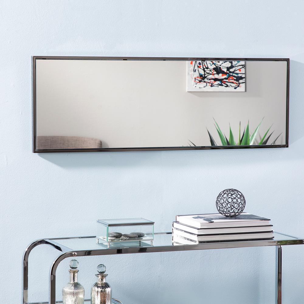 Harbona Black Hanging Rectangular Mirror