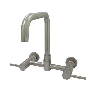 Kingston Brass Concord 2 Handle Wall Mount Standard Kitchen Faucet
