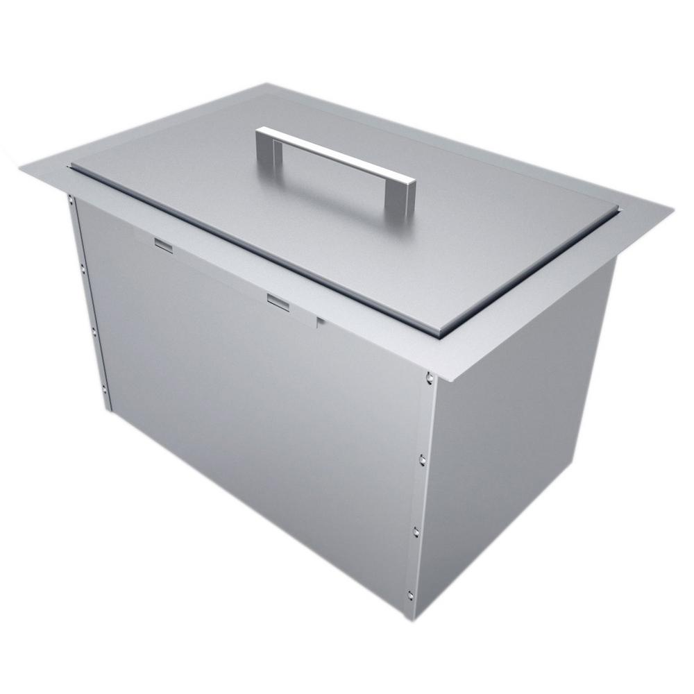 14 in. x 12 in. 304 Stainless Steel Over/Under Single Basin
