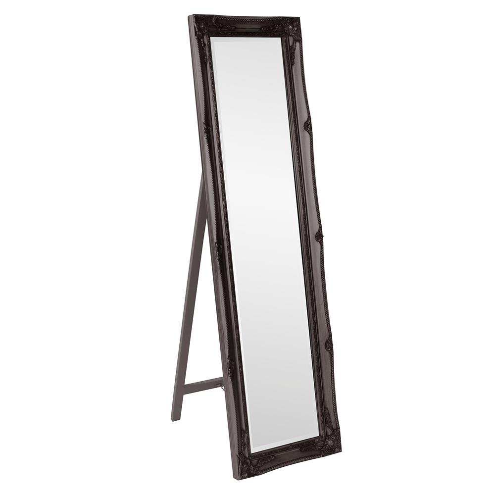 Antique Black Standing Mirror